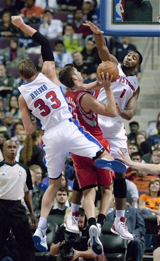 Jonas Jerebko, Andre Drummond, Chandler Parsons