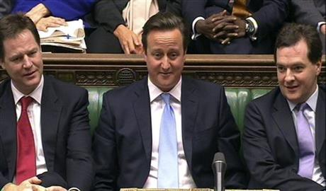 David Cameron, Nick Clegg, George Osbourne