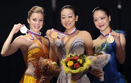 Suzuki Akiko, Ashley Wagner, Asada Mao