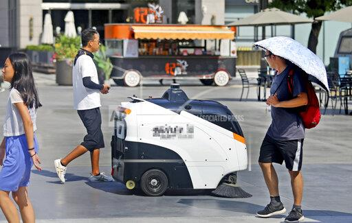 CHINA CHINESE SHAANXI XI'AN INTELLIGENT AUTOMATED CLEANER ROBOT