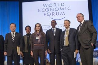 David Cameron, Ban Ki-Moon, Paul Kagame, Helene Gayle, Rania, Bill Gates Paul Polman
