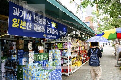 Japanese-made products boycotted at supermarket in Seoul