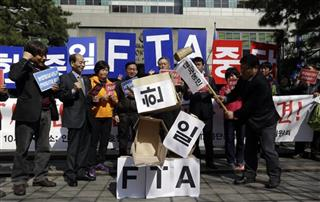 South Korea China Japan FTA
