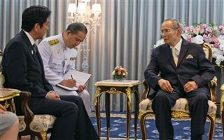 Shinzo Abe, Bhumibol Adulyadej