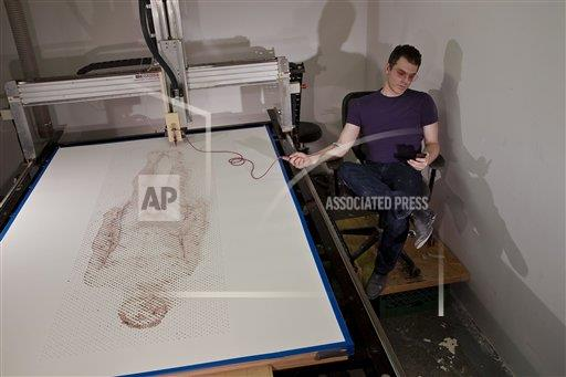 REX AP     4080441a The brooklyn artist who made a self portrait out of his own blood, America, August 2014