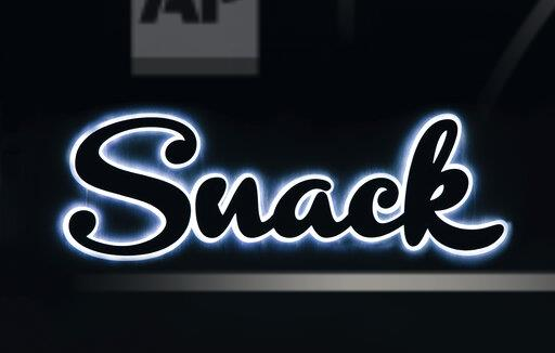 Word snack, neon sign