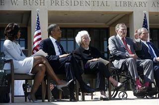 Barack Obama, George W. Bush, Michelle Obama, Barbara Bush, George H.W. Bush