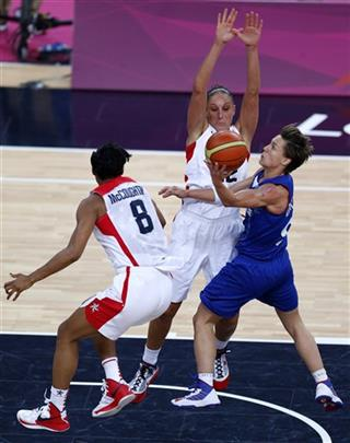 Celine Dumerc, Angel McCoughtry, Diana Taurasi