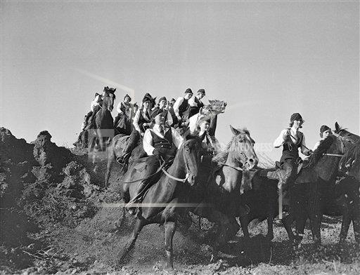 "Watchf AP A  CA USA APHS466427 ""Cavalrywomen"" Exercises"