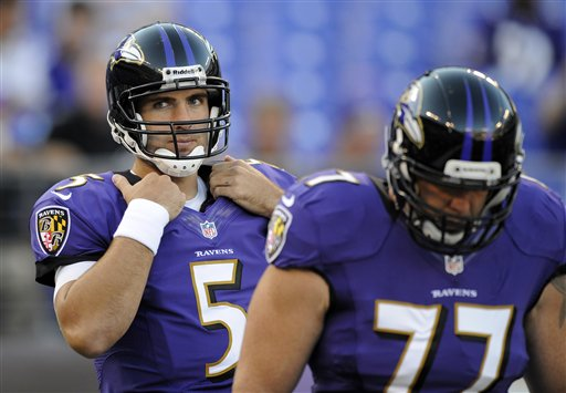 Joe Flacco, Matt Birk