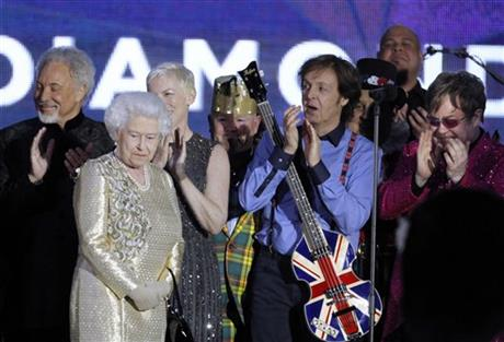 Queen Elizabeth II, Sir Tom Jones, Annie Lennox, Sir Paul McCartney, Sir Elton John