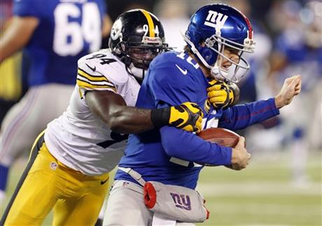 Lawrence Timmons, Eli Manning