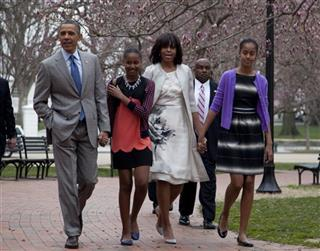 Barack Obama, Michelle Obama, Sasha Obama, Malia Obama