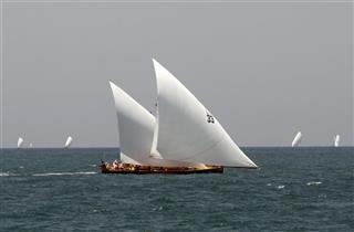 Mideast Emirtaes Traditional Dhow Race