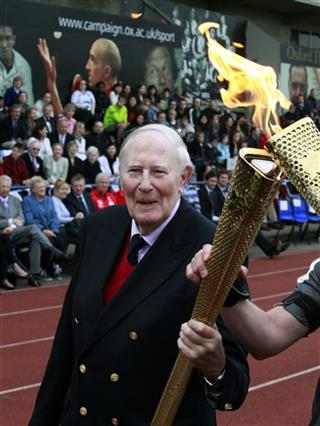 Britain OLY London 2012 Torch Bannister