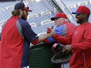 Jayson Werth, Ryan Howard, Charlie Manuel