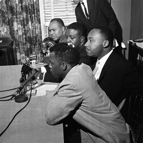 John Lewis, Martin Luther King Jr., Ralph Abernathy, James Farmer