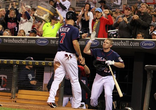 Joe Mauer, Chris Parmelee