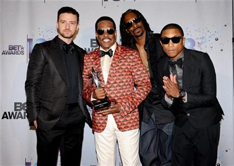 Justin Timberlake, Charlie Wilson, Snoop Lion, Pharrell Williams
