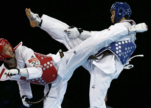 APTOPIX London Olympics Taekwondo Men