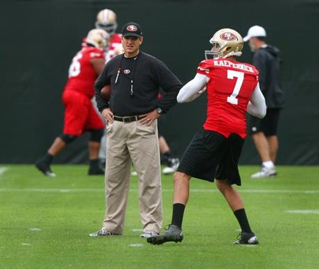 49ers Harbaugh Football