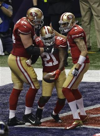 Joe Staley, Frank Gore, Colin Kaepernick