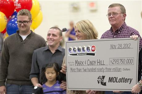 APTOPIX Powerball Winners