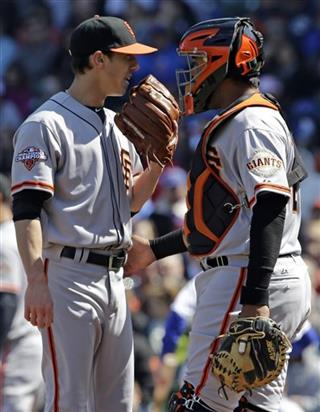 Tim Lincecum, Hector Sanchez