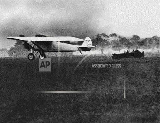 Watchf Associated Press Domestic News  New York United States APHS64935 Spirit of Saint Louis Takes Off For Paris 1927