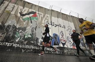 Mideast Palestinians Marathon