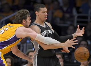 Pau Gasol, of Spain,, Danny Green