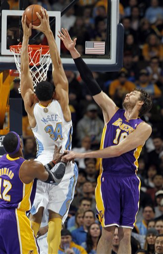 Dwight Howard, JaVale McGee, Pau Gasol