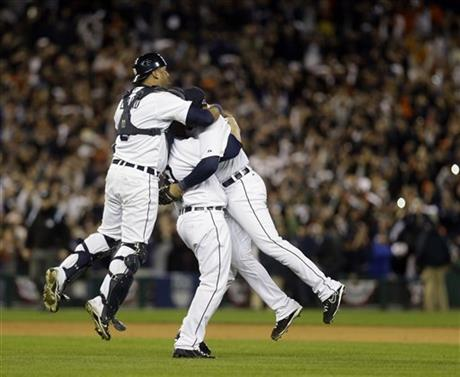 APTOPIX ALCS Yankees Tigers Baseball