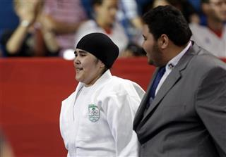 London Olympics Judo Women Saudi Fighter