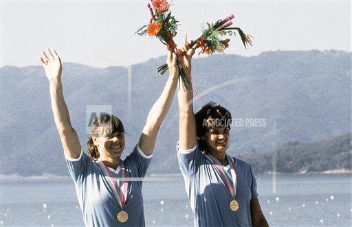 Watchf AP S ROW OLY CA USA APHSL51725 LA Olympics Rowing Double Sculls