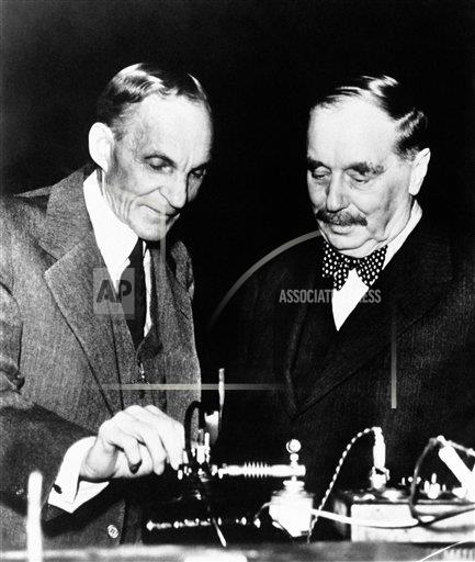 Watchf AP A  MI USA APHS392224 H. G. Wells and Henry Ford