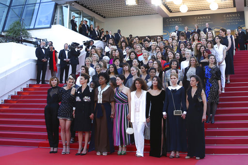Image result for Women Rally on Cannes Red Carpet to Highlight Gender Inequalities Await
