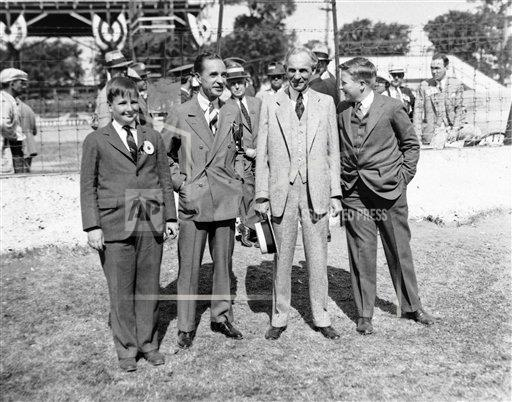 Watchf AP A   USA APHS427924 Henry Ford with Edsel and Edsel's Two Sons