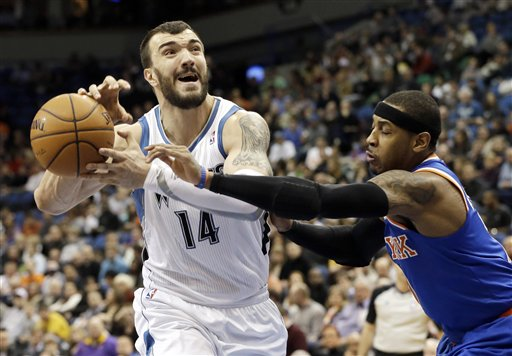 Nikola Pekovic, Carmelo Anthony
