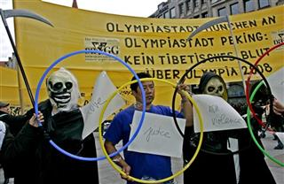 GERMANY CHINA TIVET OLYMPICS PROTEST