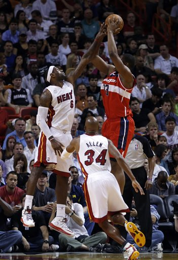 Kevin Seraphin, LeBron James, Ray Allen