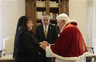Otto Perez Molina, Pope Benedict XVI, Rosa Perez