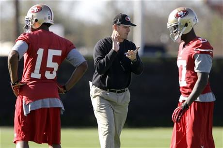 Jim Harbaugh, Michael Crabtree, A. J. Jenkins