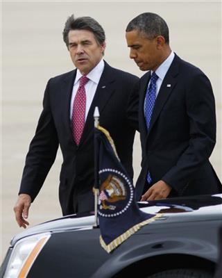 Barack Obama, Rick Perry