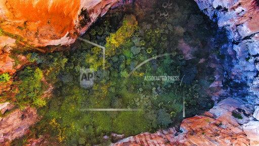 CHINA CHINESE NATURAL CAVE SINKHOLE QUJIN COLORFUL