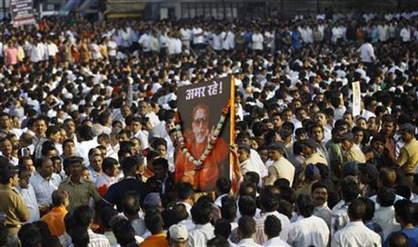 APTOPIX India Thackeray Funeral