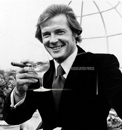 Associated Press International News England United Kingdom Entertainment ROGER MOORE IS 007