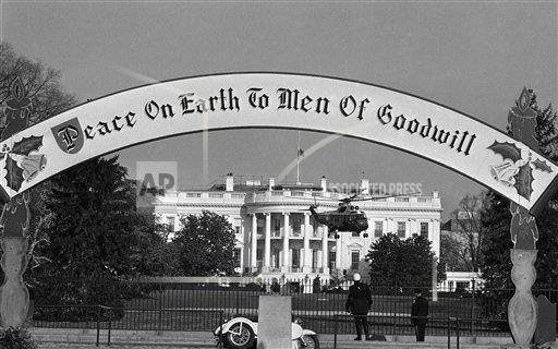 Watchf AP A  DC USA APHS407944 President Lyndon Johnson helicopter