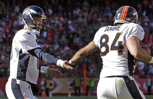 Jacob Tamme, Peyton Manning