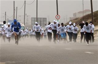 Mideast Israel Palestinians Gaza Marathon